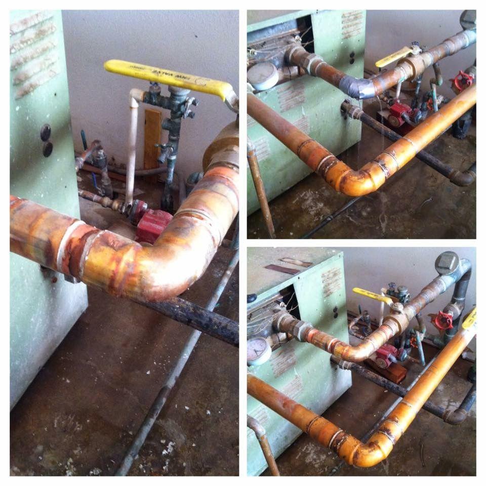 Water leaking from water heater line. Water heater