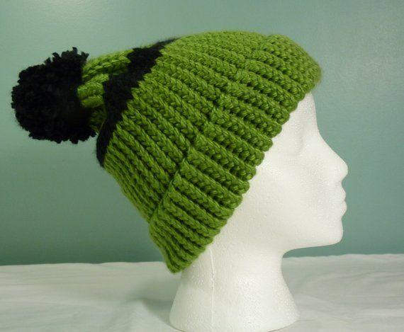 c35232f7a26 Green and Black Stripe Stocking Cap