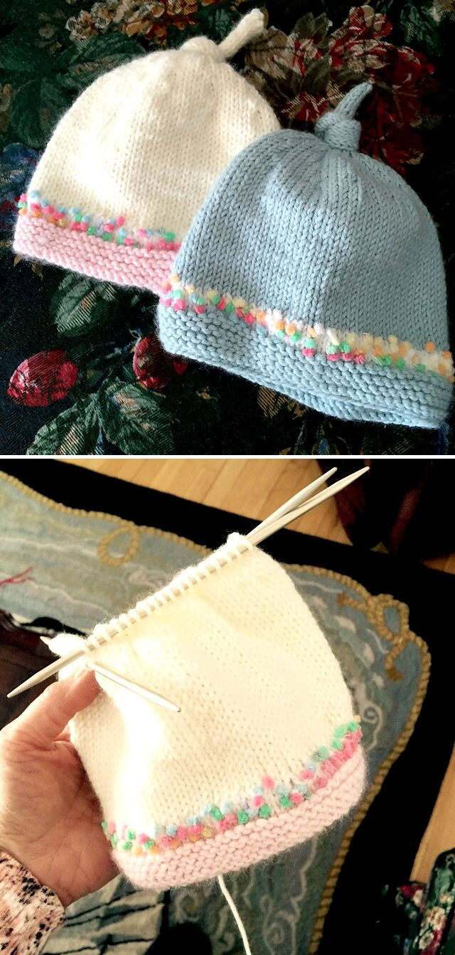 Photo of Tegan Baby Hat with Top Knot – Free Pattern