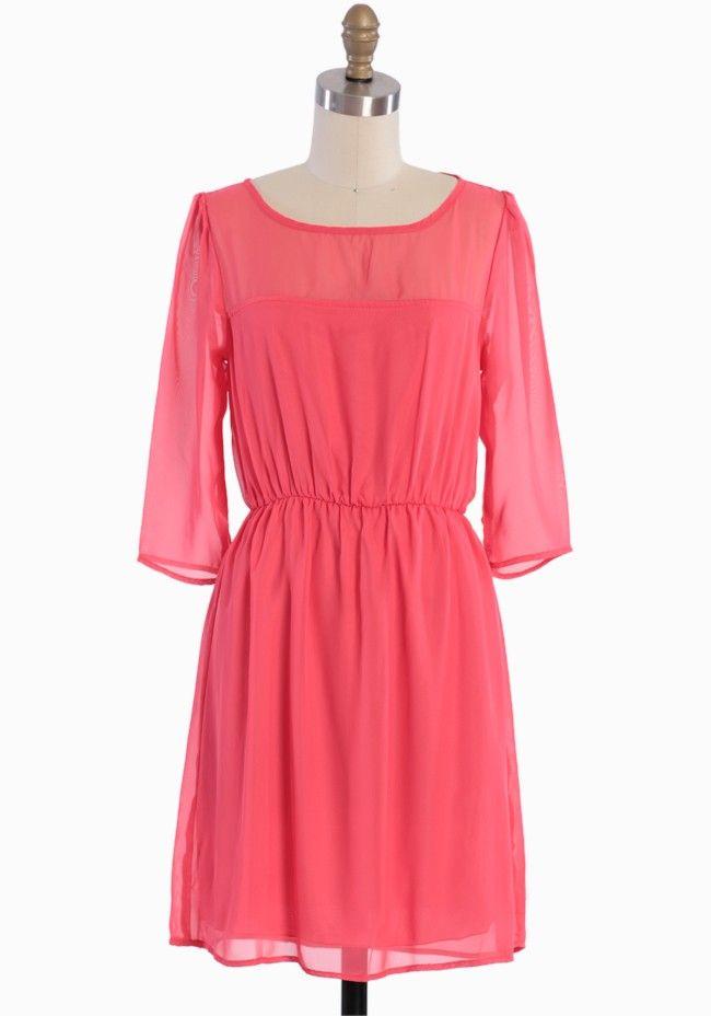 Modern Vintage Chiffon Dress