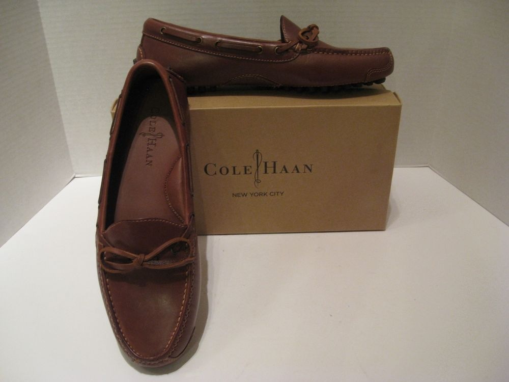 New Cole Haan Gunnison II Driving Shoe Moccasin Brown Size 8 D C05922 Mens # ColeHaan
