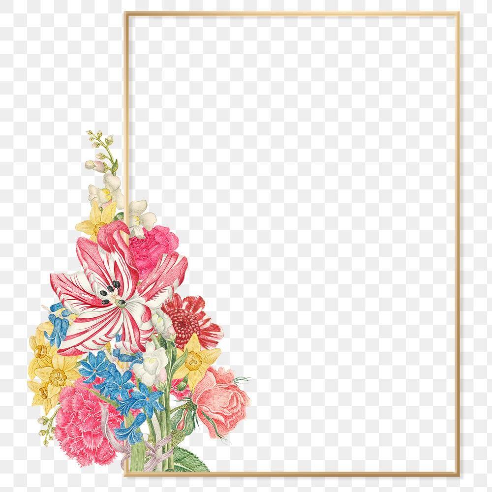 Download Premium Png Of Png Vintage Botanical Gold Frame Remixed From The Flower Logo Vintage Botanical Gold Frame
