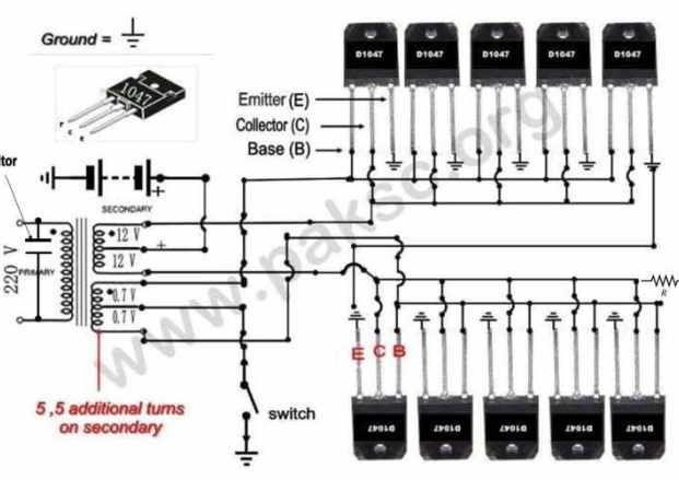 500 Watt 12 Vdc To 220 Vac Power Inverter Ups Construction In