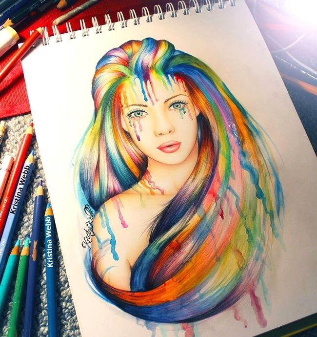 Creative Color Pencil Drawing