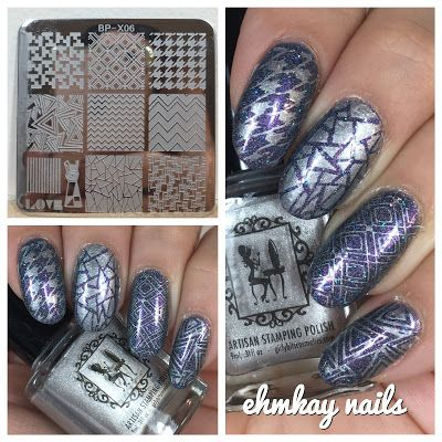 ehmkay nails: Girly Bits Silver Bells Stamping Polish with Born Pretty Stamping…