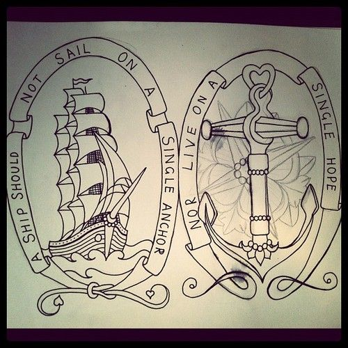 Ship tattoo! I love this!!!