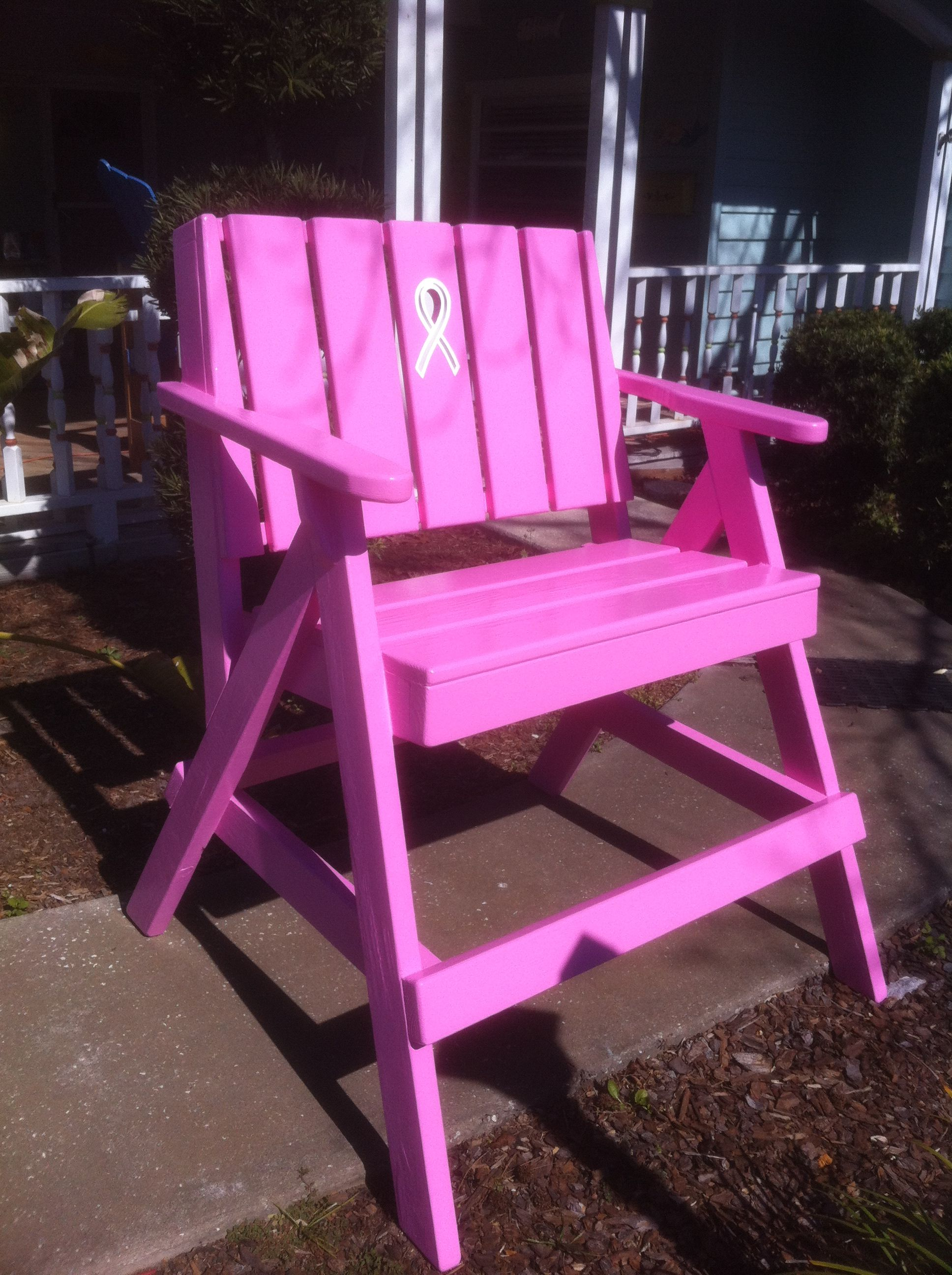 665a970ab41 First custom breast cancer awareness lifeguard chair made.
