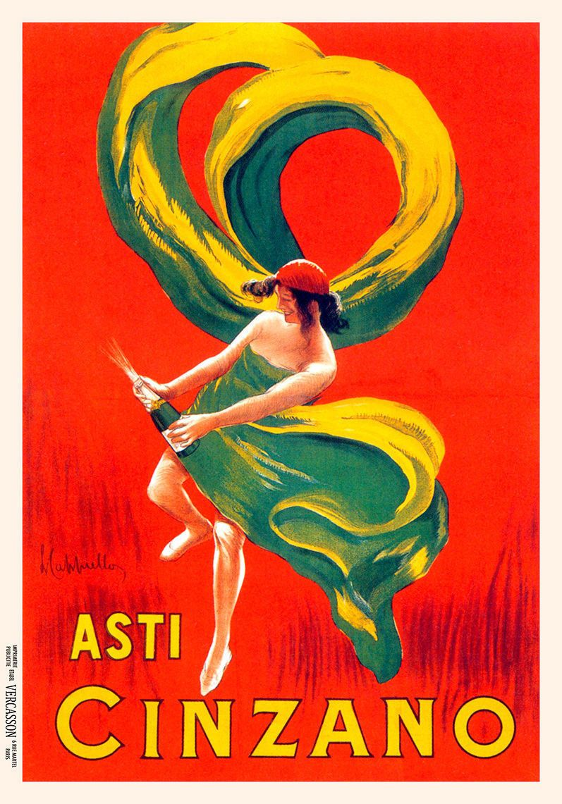 1900 S Asti Cinzano Wine Italian Italy Spirits Advertisement Art Poster Vintage Posters Vintage Italian Posters Poster Art