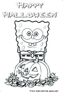 happy halloween spongebob coloring