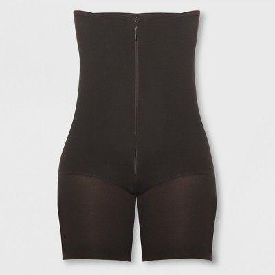 b48b779c0e Annette Women s Faja Extra Firm Control High Waist Boy Short With Front  Zipper - Black Xxxl