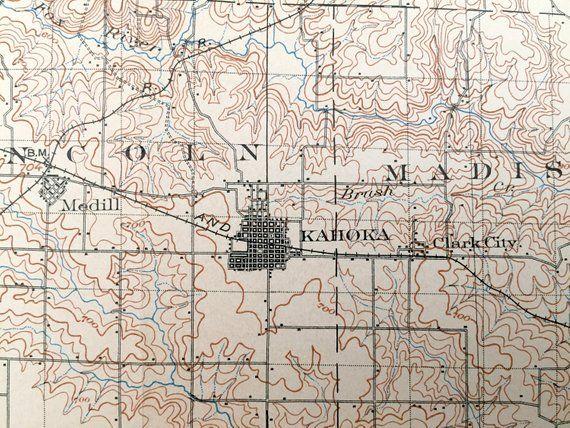Antique Kahoka. Missouri 1903 US Geological Survey Topographic Map – Lewis. Clark. Knox and Scotland County. La Belle. Lagrange. Monticello ...