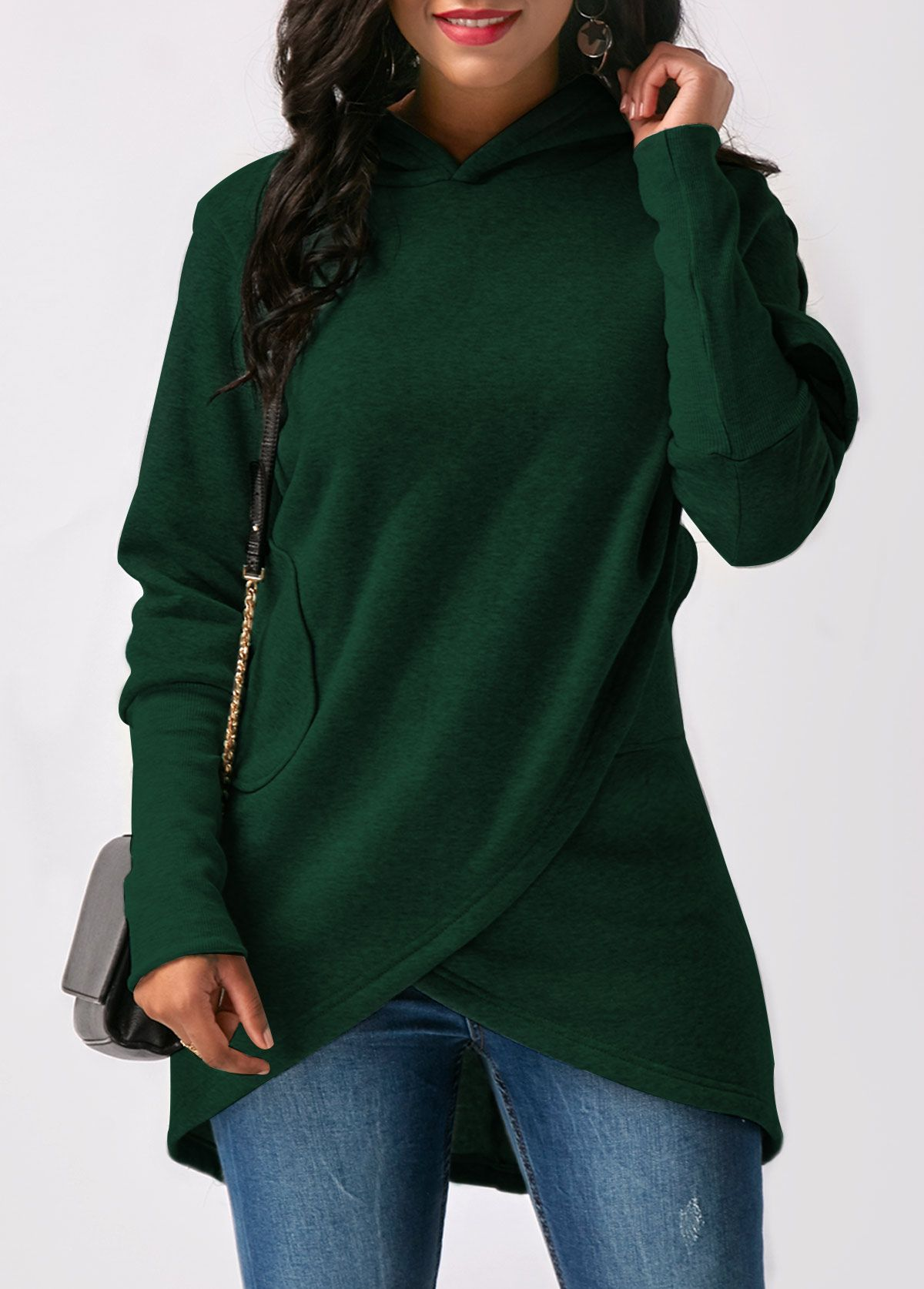 Women Casual Zipper Patchwork Hooded Long Sleeve Pullover Sweatshirt Blouse Tops Womens Blouses Sale Autumn Plus Size Tops UK Size