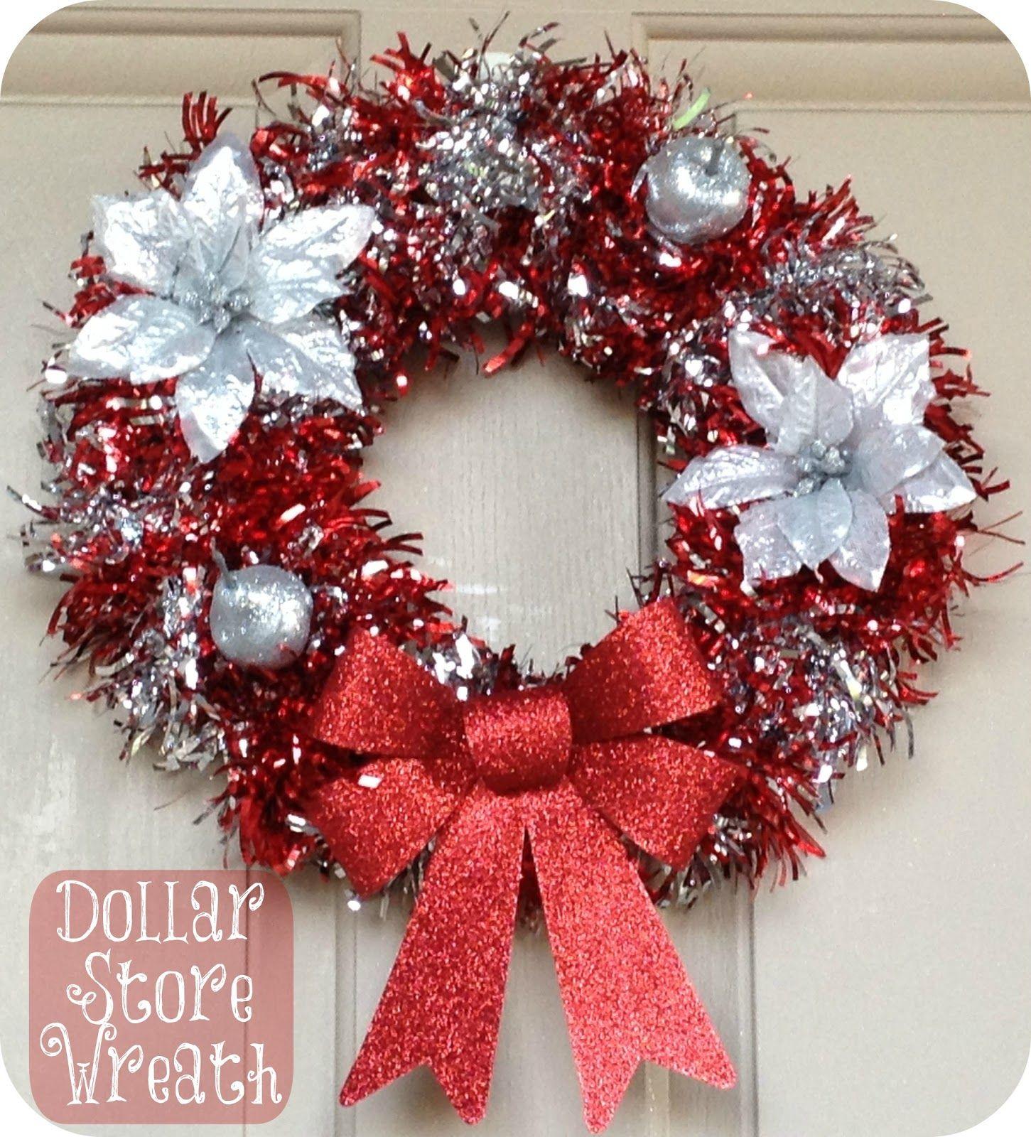 Diy Dollar Store Holiday Wreath Christmas Wreaths Diy Dollar