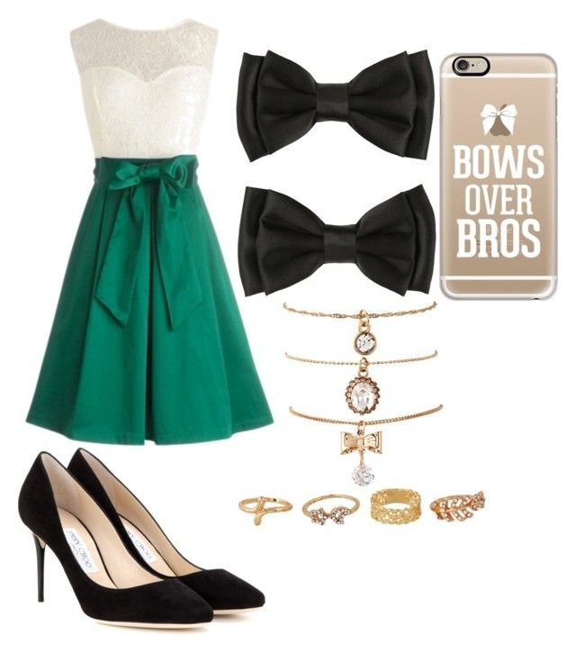 """""""Bows for Elegance"""" by royalparamore978 ❤ liked on Polyvore featuring Jimmy Choo, Casetify and bows"""