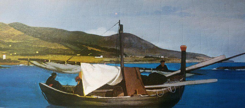 Fattori,La punta del Romito con barca di pescatori