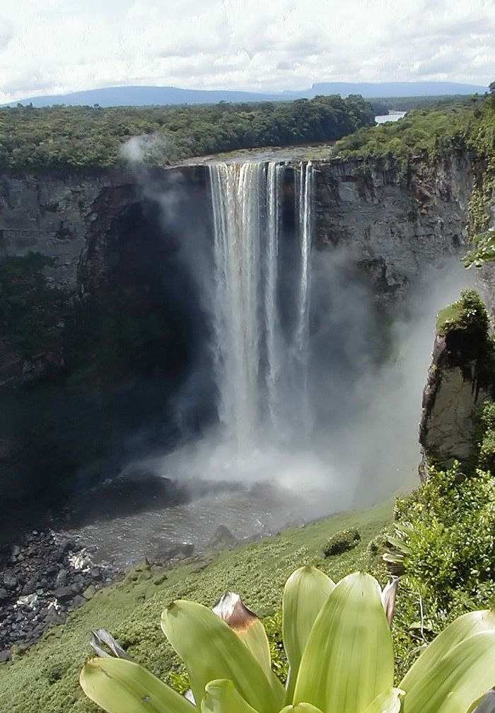 Top 10 Scenic Views of Kaieteur Falls, Guyana: Kaieteur Falls is a waterfall on the Potaro River in Kaieteur National Park, central Essequibo Territory, Guyana. It is 226 metres (741 ft) high when measured from its plunge over a sandstone and conglomerate cliff to the first break. According to the World Waterfall Database, Kaieteur is the 26th most scenic waterfall in the world.