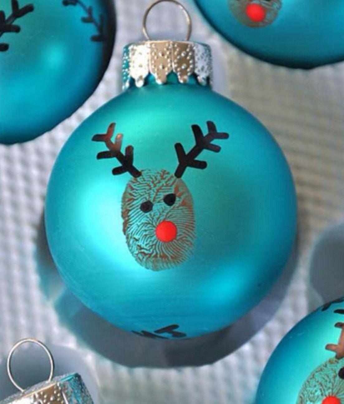 Finger print christmas baubles weihnachten pinterest weihnachten basteln weihnachten und - Billige weihnachtsdeko ...