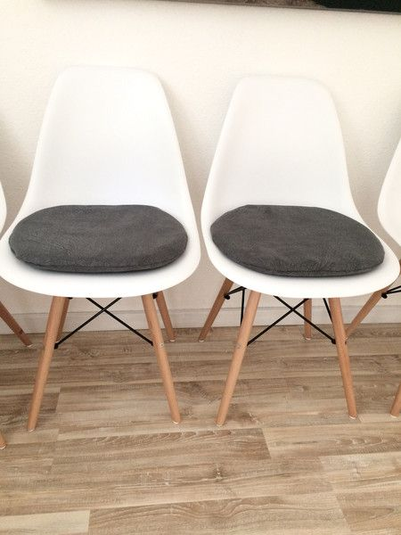 gepolstertes sitzkissen anthrazit f r eames stuhl eames chairs and room. Black Bedroom Furniture Sets. Home Design Ideas