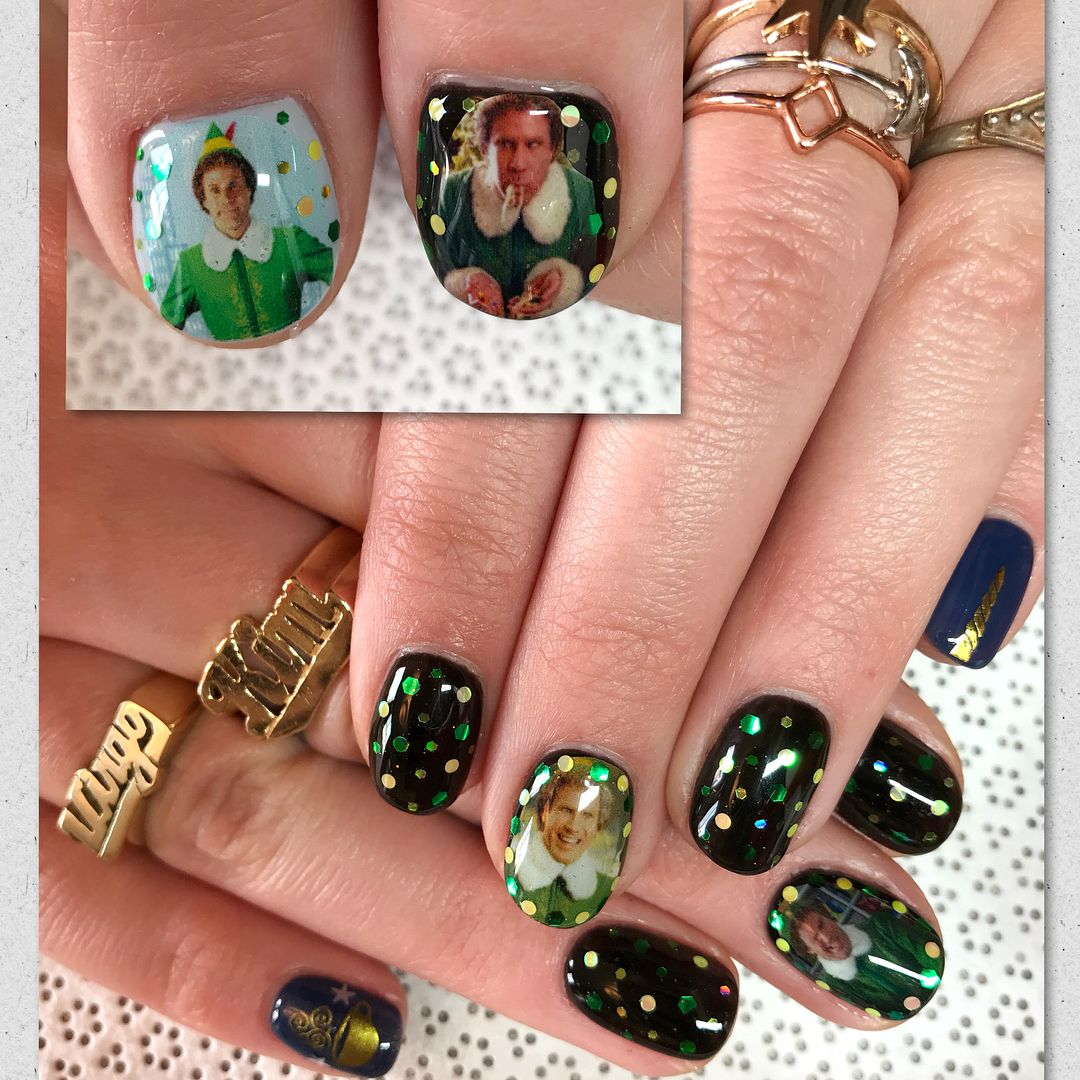 Christmas Nails Elf: 15 Buddy The Elf Nails That Will Make You Smile