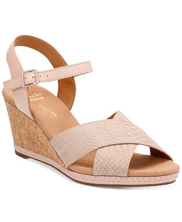 f34c7863ad8 Clarks Collection Women s Helio Latitiude Wedge Sandals