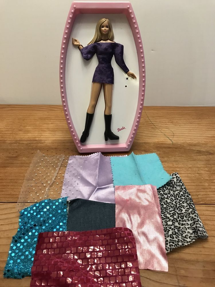 Barbie Fashion Design Plate Lift Up Fashion Dressing W Fabric 2002 Tara Toy Vintage Toys Doll Toys Barbie