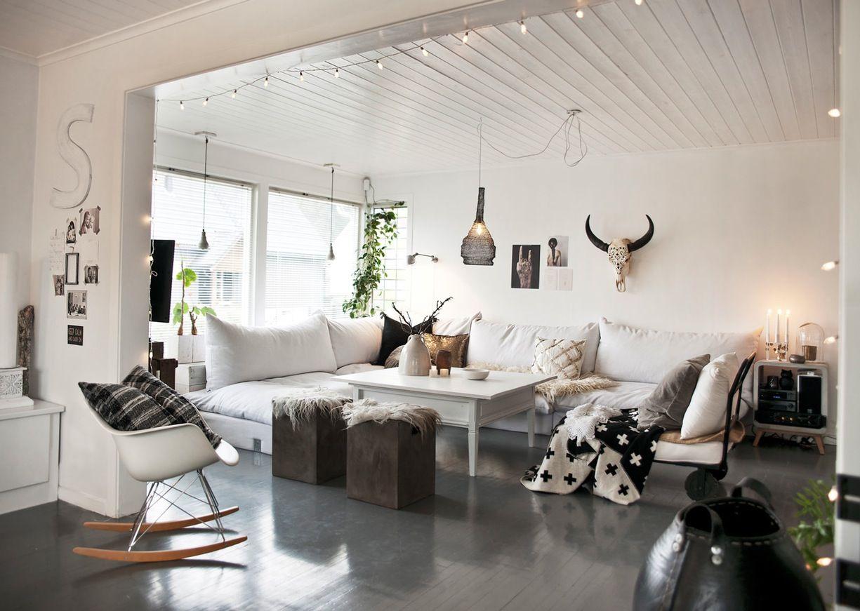 Un Noël Norvégien Plein De Délicatesse PLANETE DECO A Homes World - Canapé convertible scandinave pour noël deco mur de chambre