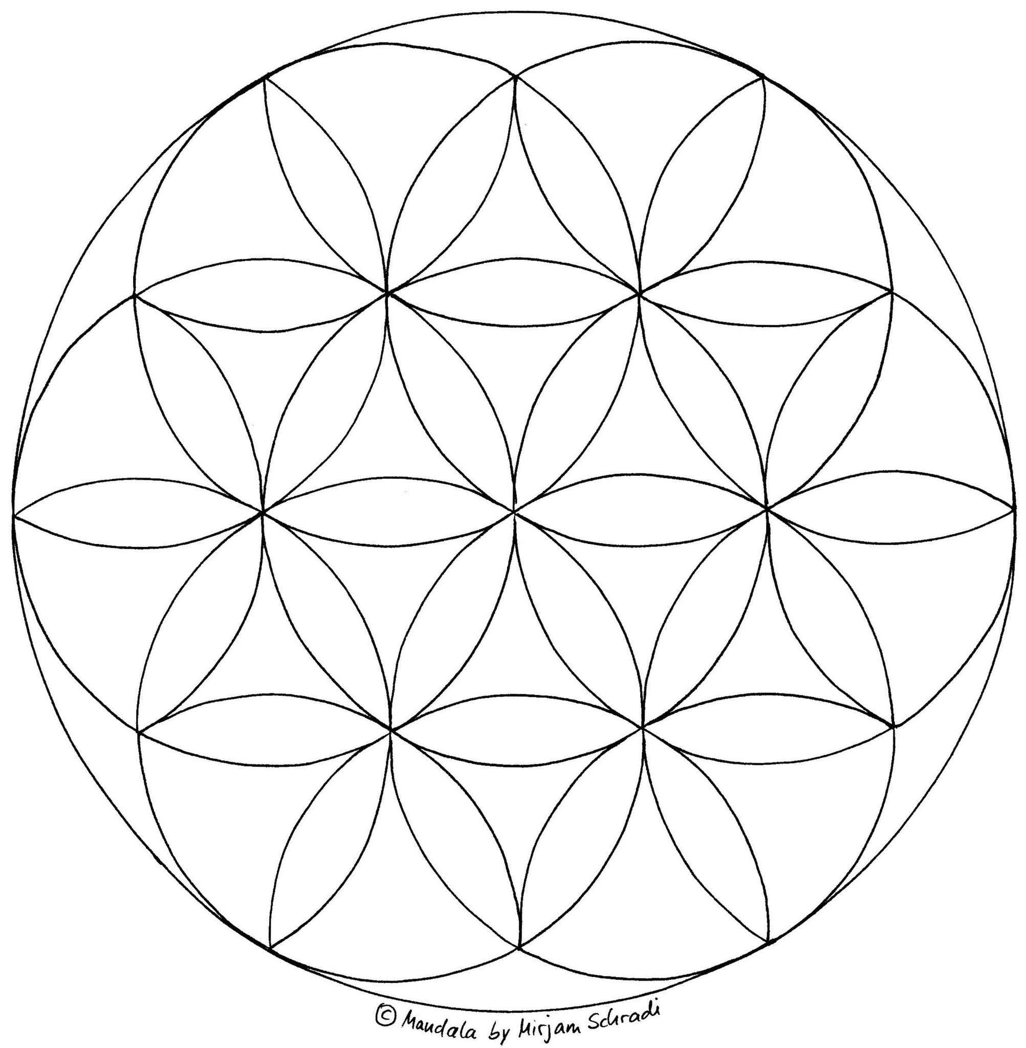 Blume des Lebens zum Ausdrucken   malen   Pinterest