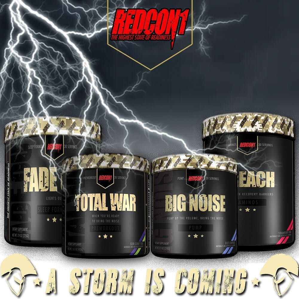 Giveaway Time Win Yourself 1 Of 5 Redcon1official Sample Packs Each Pack Has Of Total War Pre Workout Big Noise Preworkout Muscle Building Stacks Total War