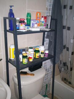 IKEA Hackers: LERBERG Shelf Into Storage Over Toilet Unit