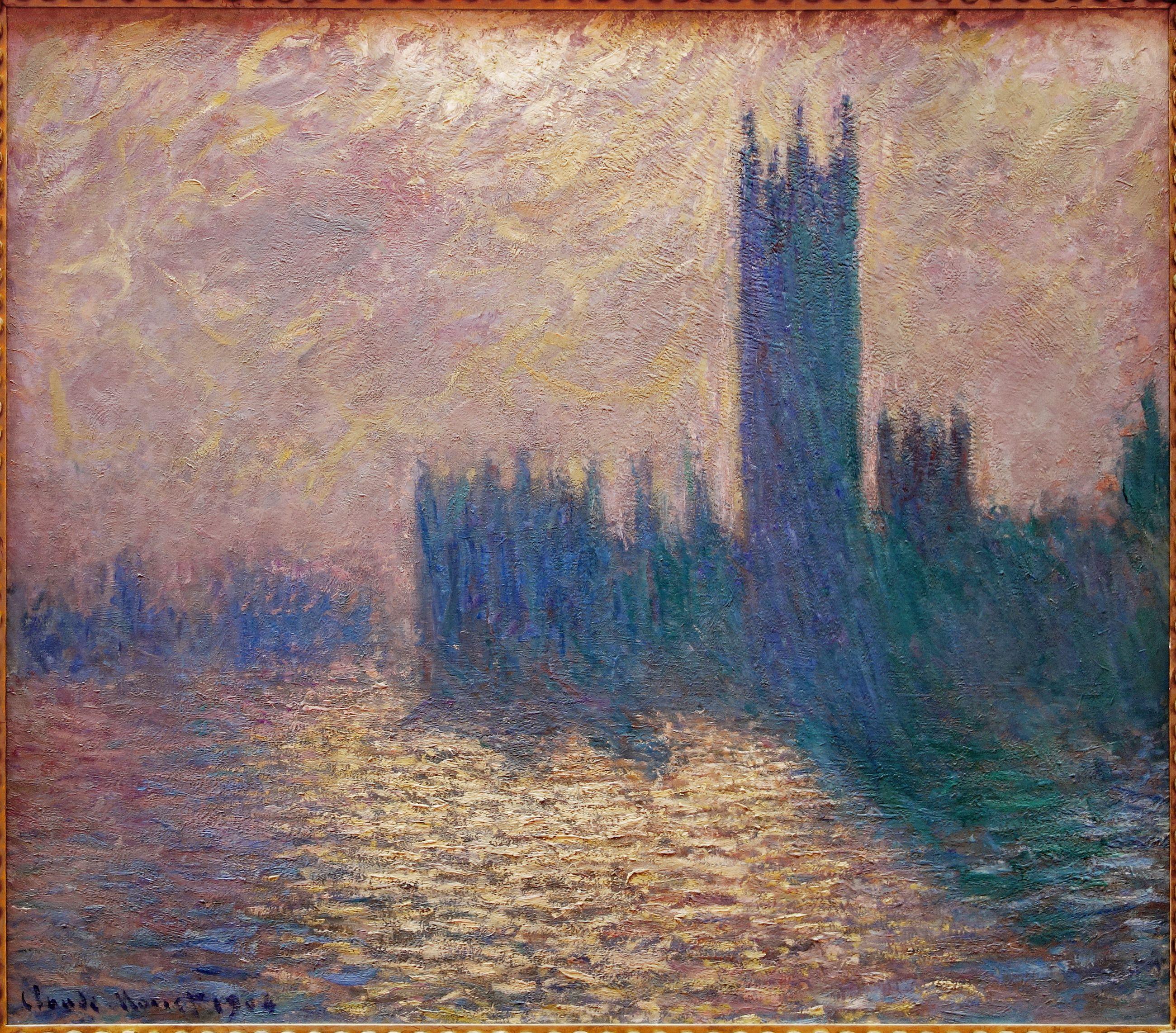 Claude Monet Houses of Parliament | Monet, Claude monet, Pierre auguste  renoir