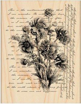 Penny Black Wood Stamp - Words Like Flowers