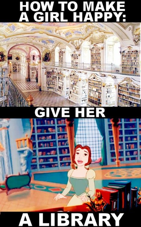 "Yes Yes Yes!!! (Cause let's think about this, Belle doesn't proclaim she loves the Beast until he gives her a library. She only knows ""there's something sweet and almost kind"" but it is not until the library gift that she realizes she needs to stay with him)  ;)"