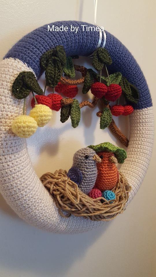 Photo of Crochet wreath crocheted door wreath