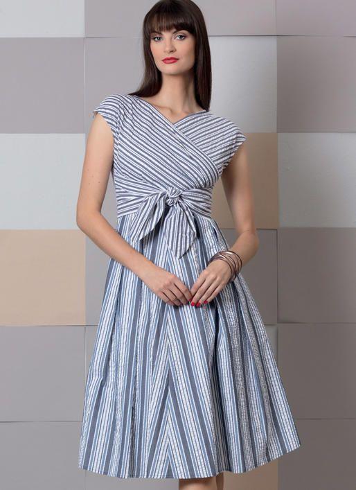 Vogue V9293 Misses Dress Sewingpattern Vogueeasyoptions Dress