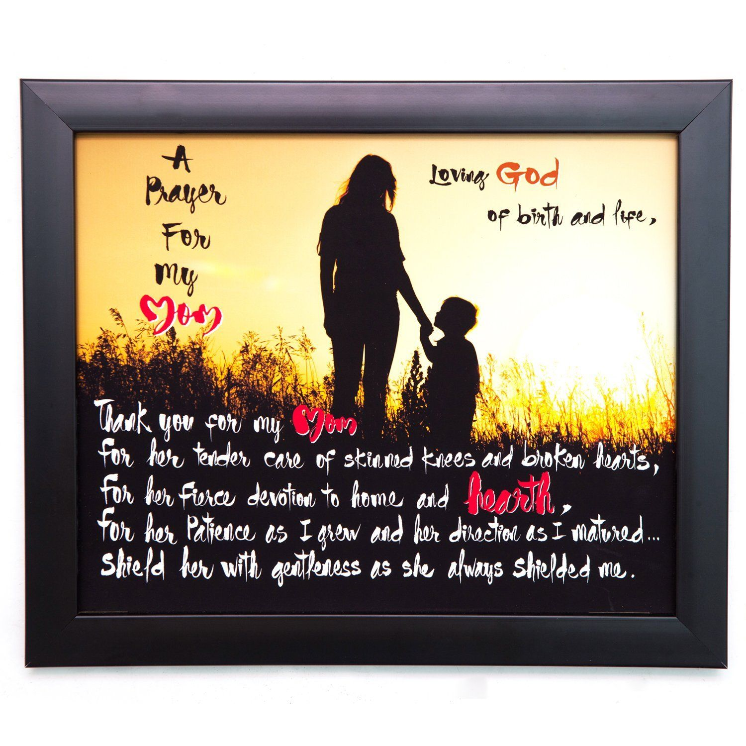 A Prayer For My Mom, 10x12 Wood Wall Art Plaque & Tabletop Frame ...