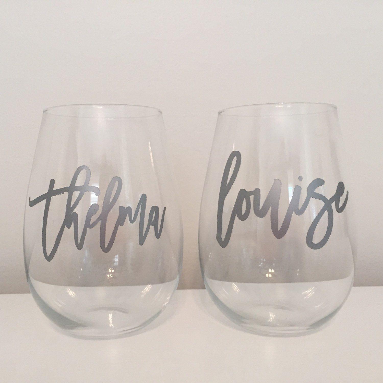 deba5d7cd31 wine glasses - set of 2 | Thelma & Louise | rock made shop | Wine ...