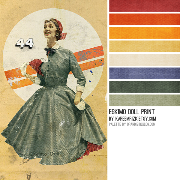 Old world rainbow: colour / color palette inspiration. #colorpalettecopies