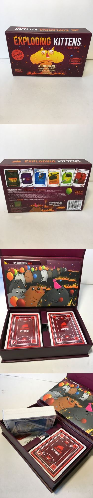 Card Games Contemporary 19082 New Exploding Kittens Party Pack Target Exclusive Rare 10 Player Upgrade Open Buy It N Kitten Party Card Games Party Packs