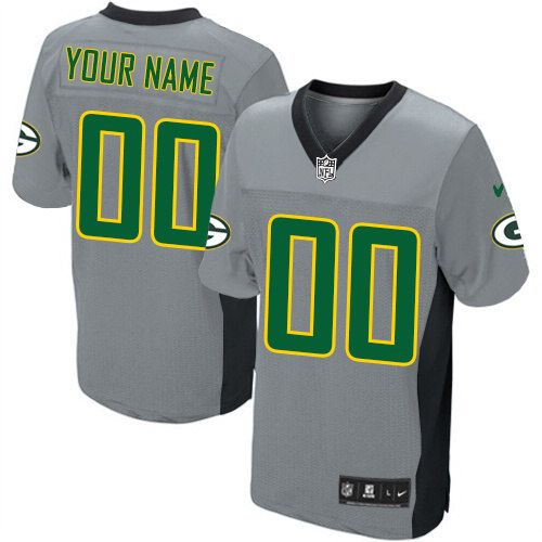 0a51f1f1e Nike Green Bay Packers Customized Limited Grey Shadow Mens NFL Jersey free  shipping
