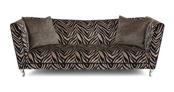 Madagascar Tiger Pattern 4 Seater Sofa Printed Sofa Zebra Print Bedding Seater Sofa