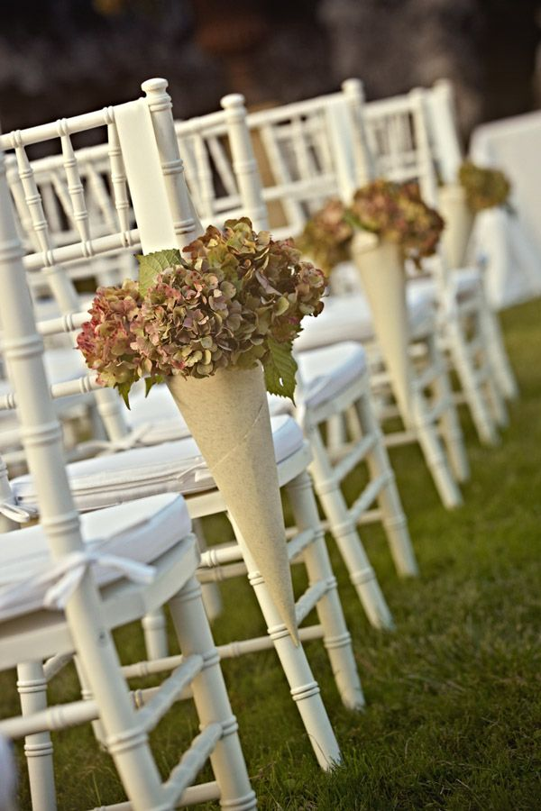 A wedding at villa oliva near lucca weddings bohemian wedding i could help you make these cone flower holders for real or paperfabric flowers you want to put in them mightylinksfo
