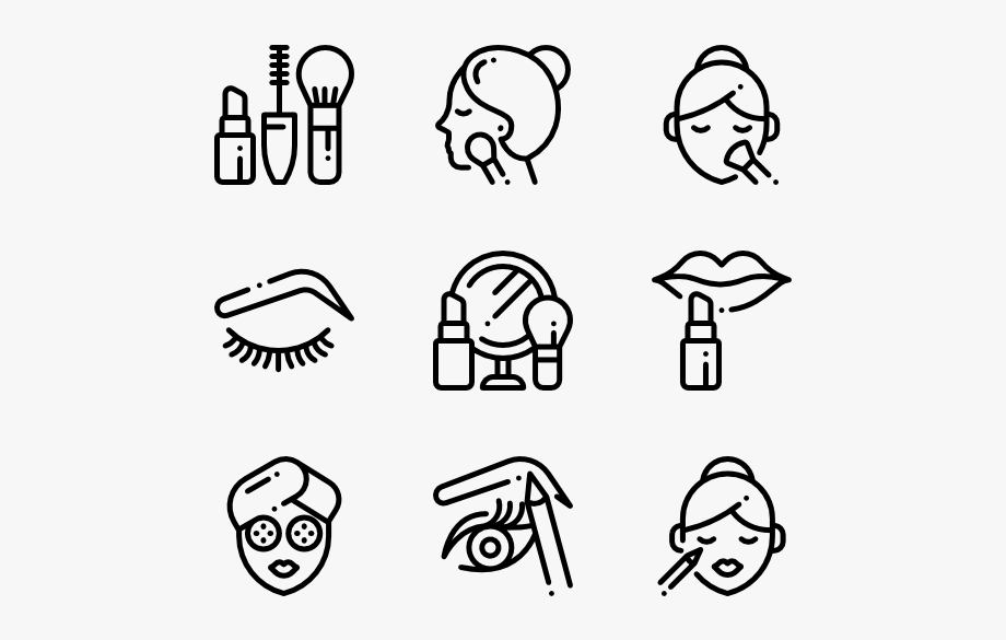 Beauty Vector Cosmetic Makeup Icon Transparent Background Makeup Icons Icon Design Pictogram Design