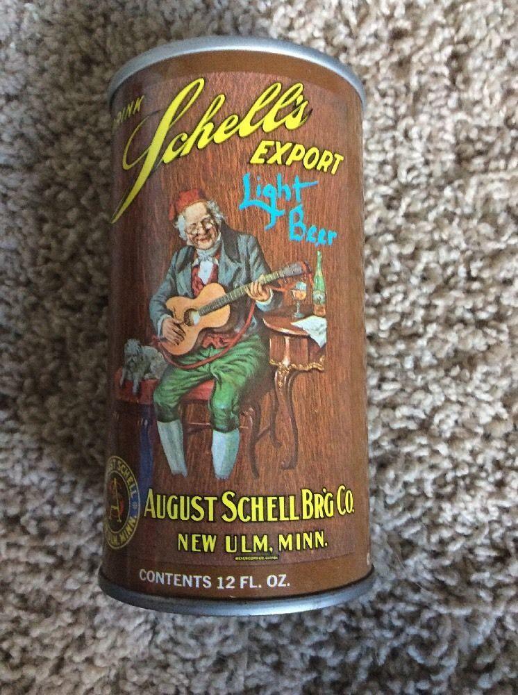 Schells Export Light Beer 70s Pull Tab August Schell New Ulm MN Bottom Opened  | eBay
