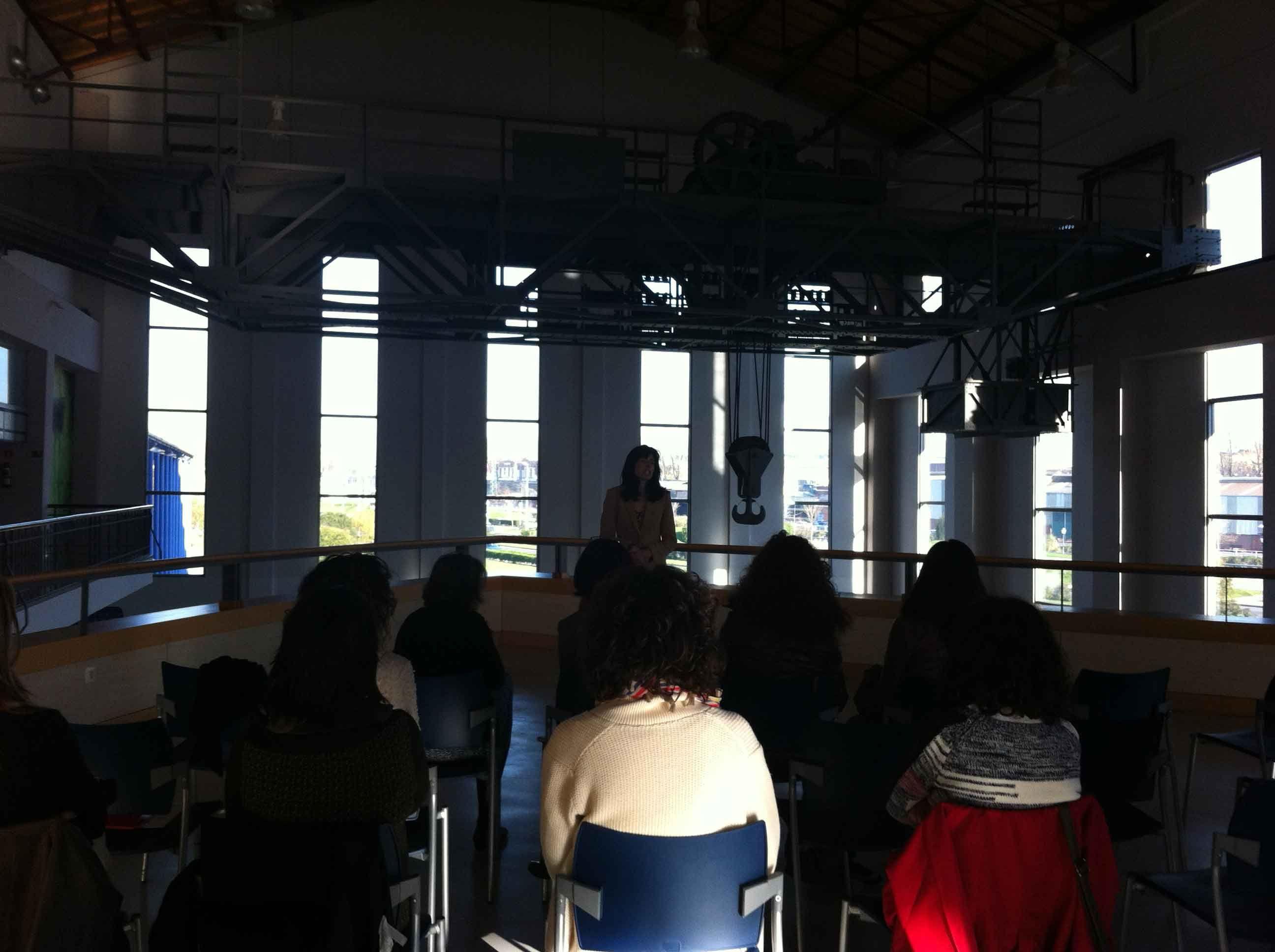 Susana Zaballa durante la presentación del itinerario formativo #emprendedorasDFB
