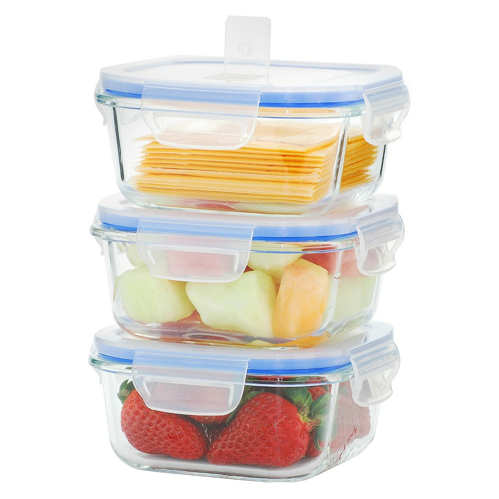 Glasslock Food Storage Container Sets Kinetic Go Green Elements Kinetic Gogreen Glasslock Elements 6Piece