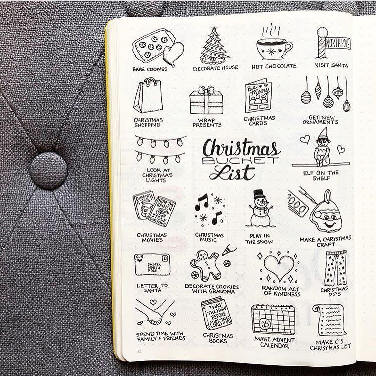 22 X'mas bullet journal ideas that will give your bujo a holiday makeover