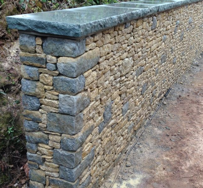Coping Stones Stone Wall Design Stone Walls Garden Dry Stone Wall