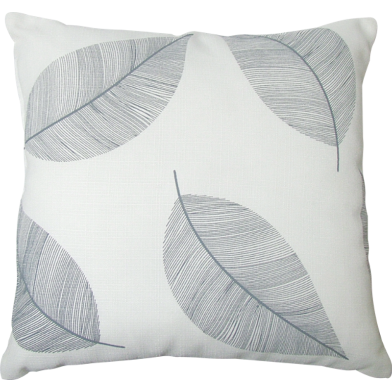 Mimosa 45 X 45cm Grey Leaf Outdoor Cushion Bunnings Warehouse