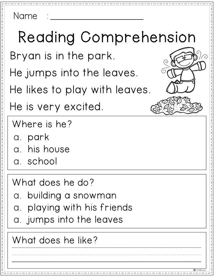 Free Reading Comprehension | First grade reading ...