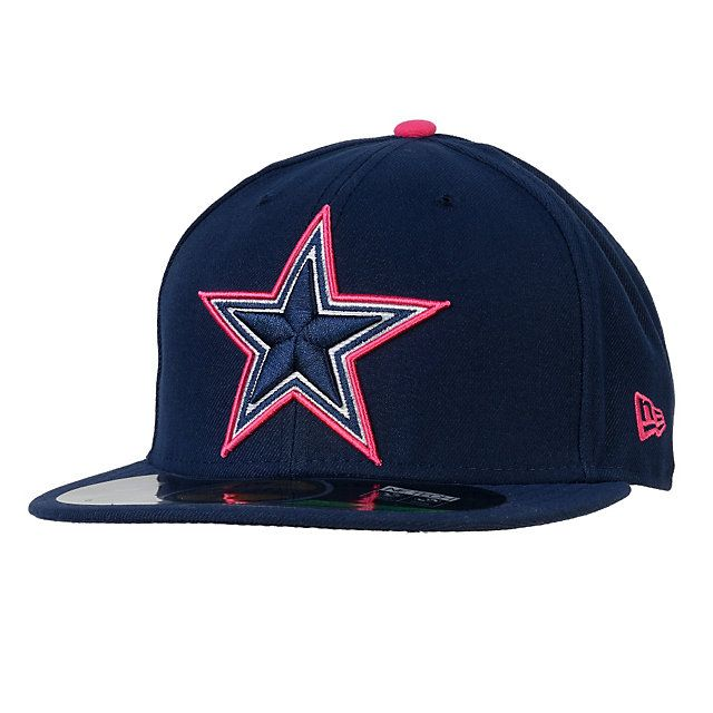 08dbb3e80dc Dallas Cowboys New Era Breast Cancer Awareness 59Fifty Sideline Cap   DallasCowboys